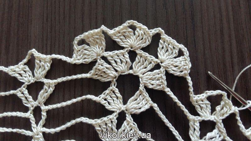 Круглая скатерть ананасы вязание по схеме с фото и описанием