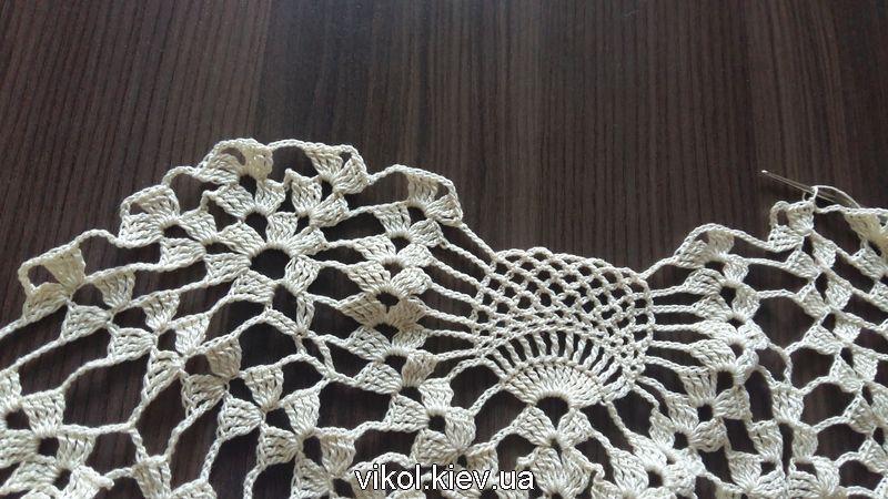 Большая круглая скатерть крючком схемы вязания на заказ в Киеве