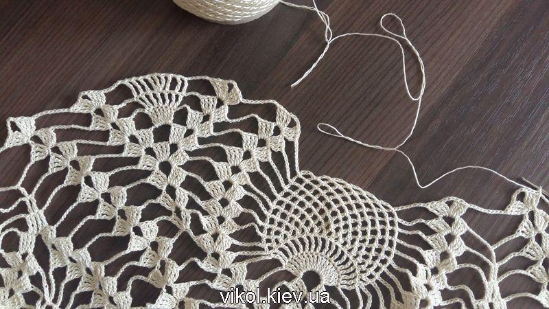 Крючком вязание скатерти пошаговое описание и фото по схеме