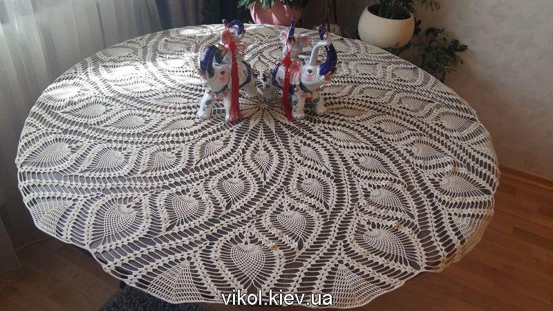 Вязаная крючком большая скатерть с ананасами купить в Киеве