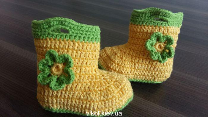 Пинетки сапожки для девочки или мальчика купить на заказ в Киеве