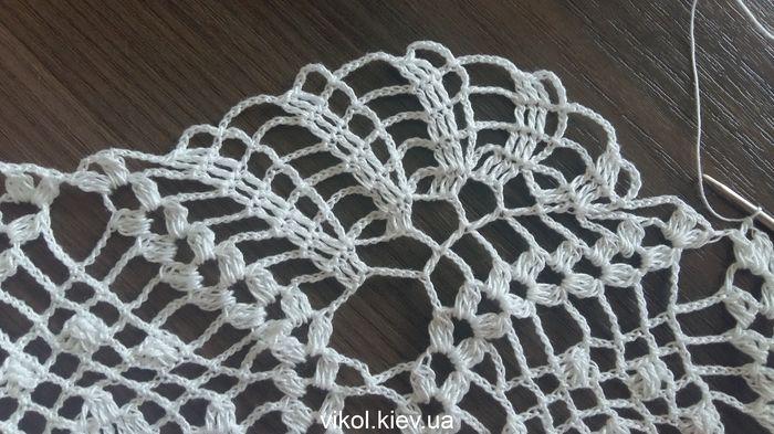Нежное вязание салфетки с Тюльпаном по схеме вяжем мастер класс