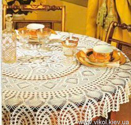 скатерть на стол вязаная крючком на заказ в Киеве