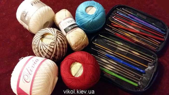 100% хлопок для вязания и крючки