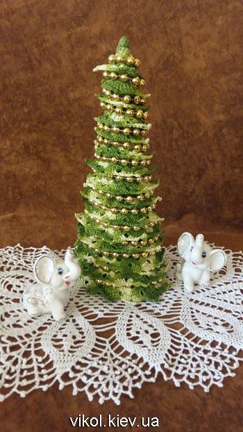 Красивая вязаная елка крючком для начинающих
