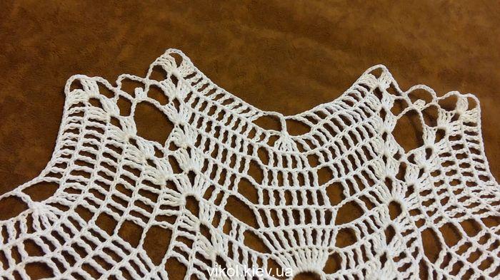 тонкие вязаные белые салфетки крючком пошаговая инструкция