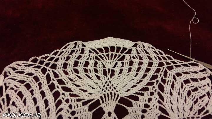 Ручное вязание салфеток крючком Бутоны
