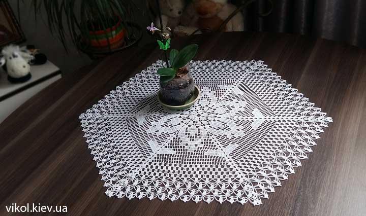 Вязание шестигранной салфетки мастер класс