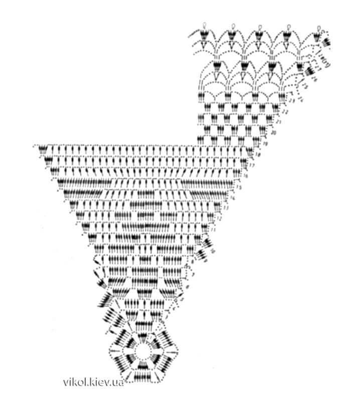 Схема шестигранной салфетки