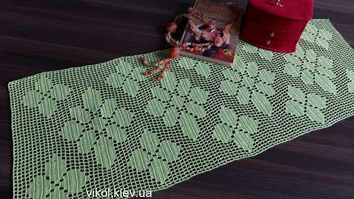 Вязание филейной прямоугольной салфетки крючком своими руками