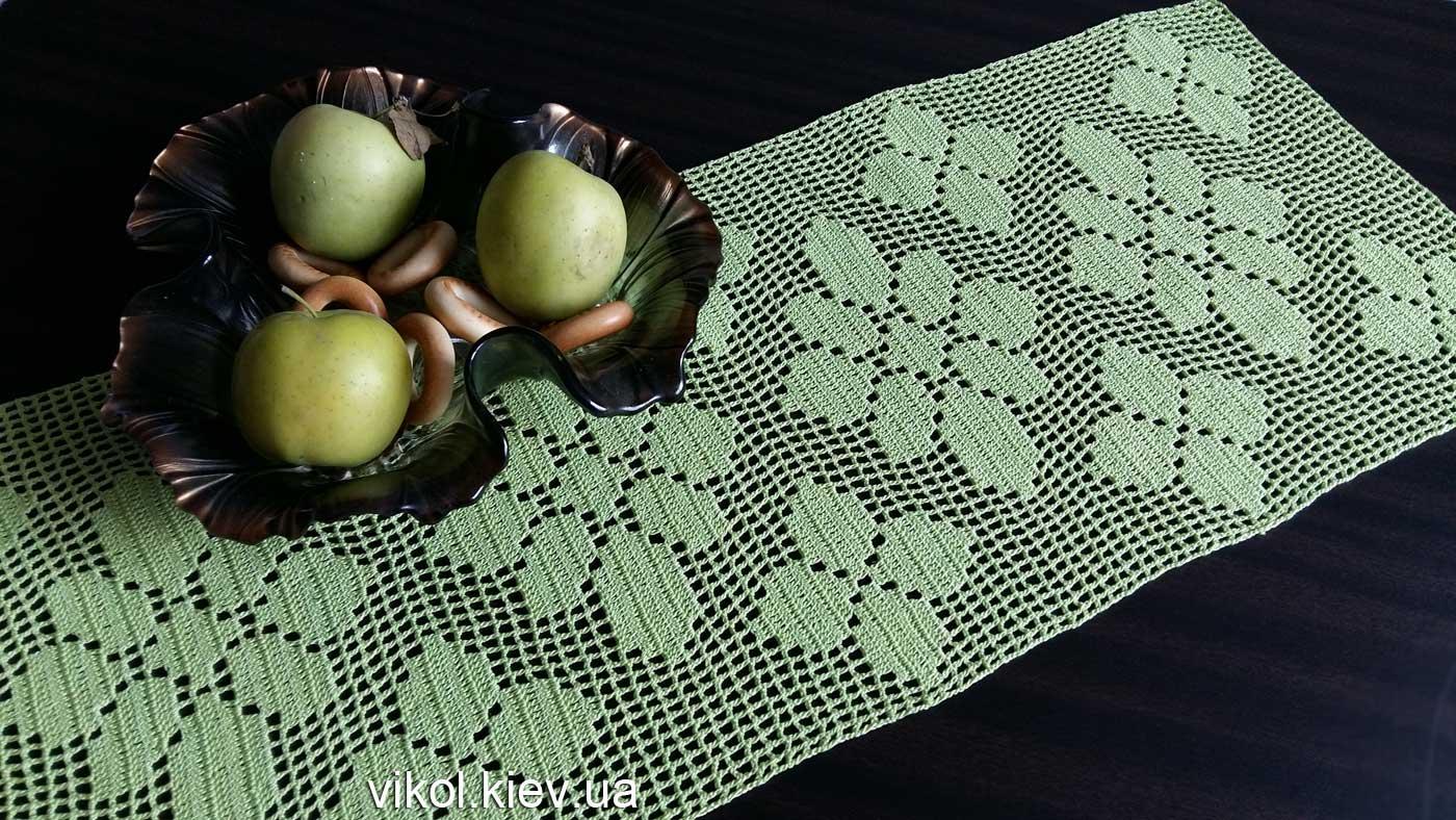 Филейное вязание прямоугольной салфетки крючком мастер класс