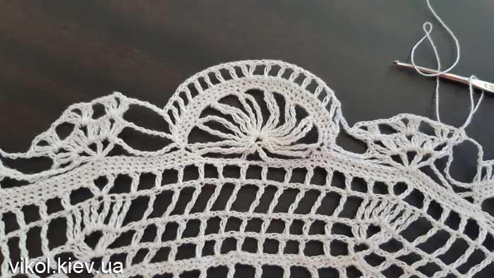 Восьмиугольная салфетка крючком пошаговое вязание крючком