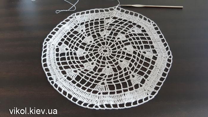 Пошаговое вязание круглых салфеток фото