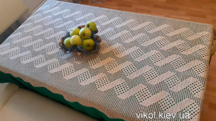 Прямоугольная скатерть филейное вязание крючком