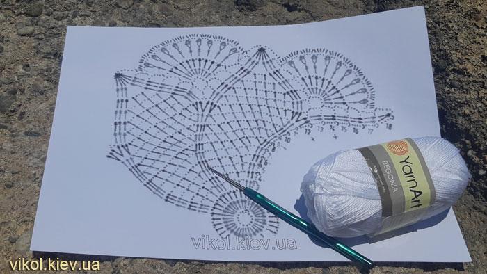 Мастер класс по вязанию ажурной салфетки крючком