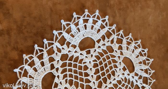 Ажурное вязание тонкой салфетки своими руками