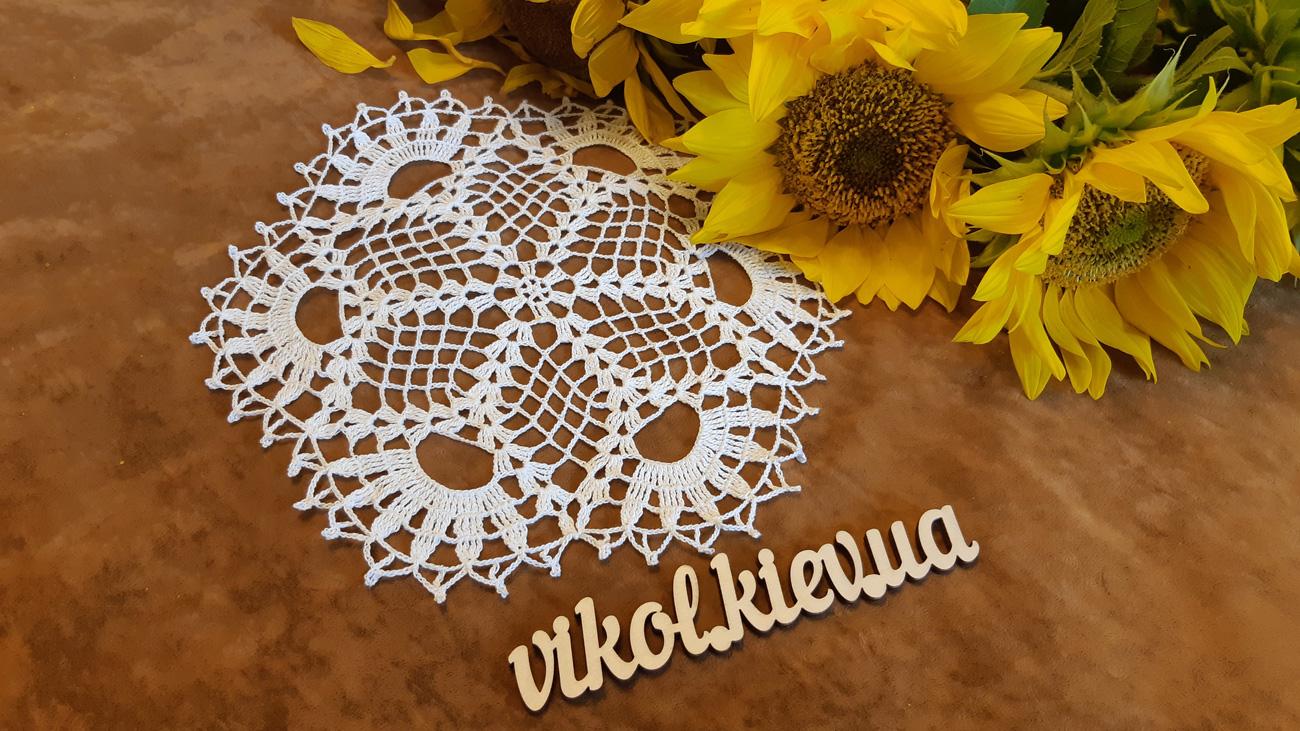 Вязание салфетки крючком на заказ в Киеве