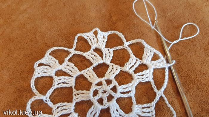 Пошаговое вязание крючком салфетки фото