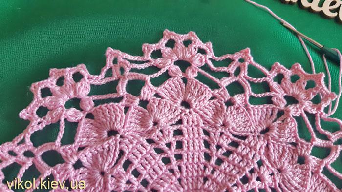 Красивое вязание круглых салфеток мастер класс
