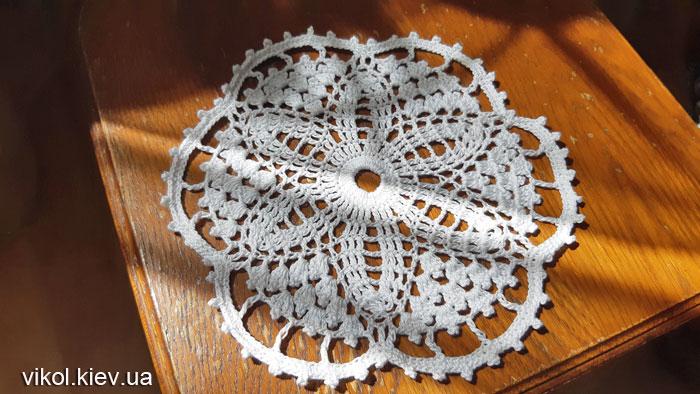 Вязание салфетки с ажурным узором на заказ