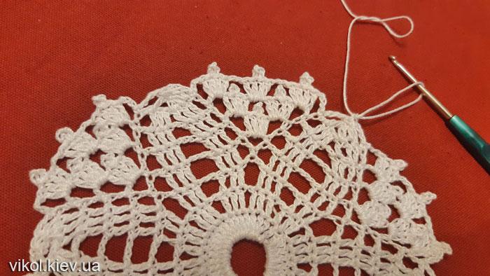 Красивый и простой узор вязания ажурной салфетки