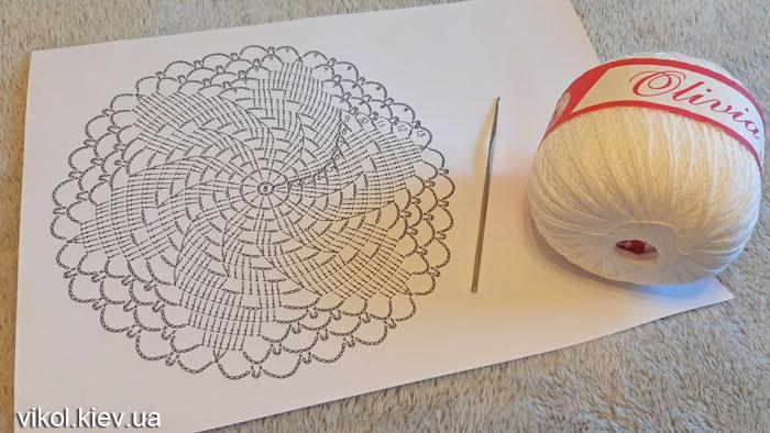 Вязание круглой салфетки крючком видеоурок по схеме
