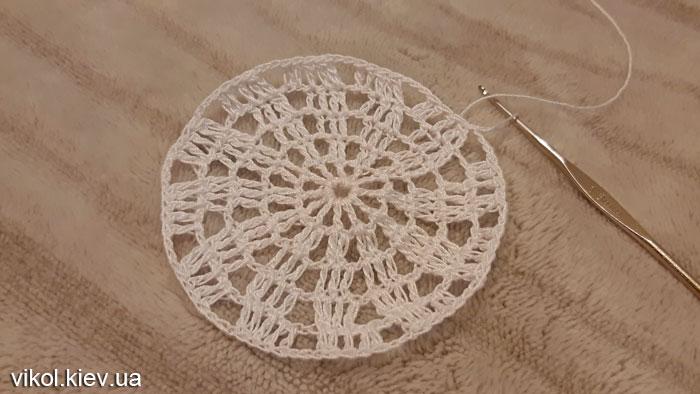 Круглая салфетка крючком вязание по схеме