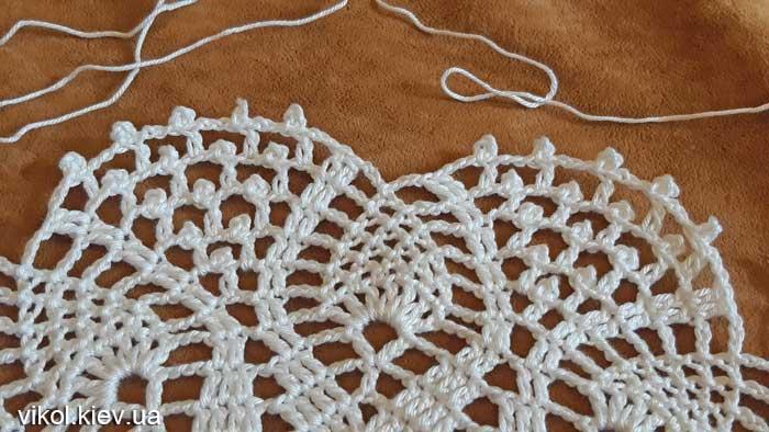 Салфетка ажурная крючком вязание для начинающих