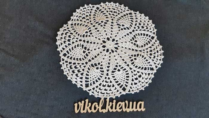 Вязание крючком круглой ажурной салфетки на заказ
