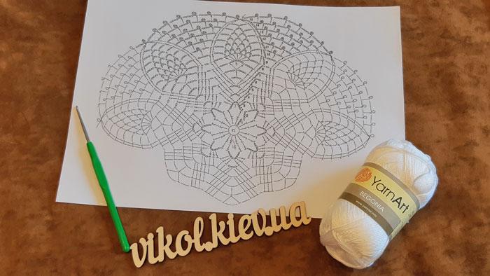 Схема круглой ажурной салфетки крючком