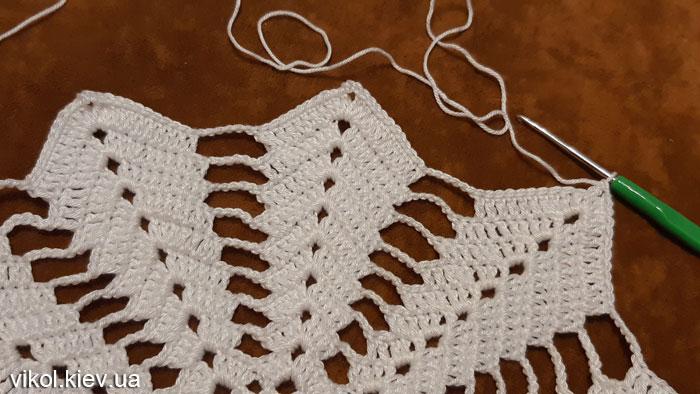 Красивое вязание салфетки по схеме Звезда