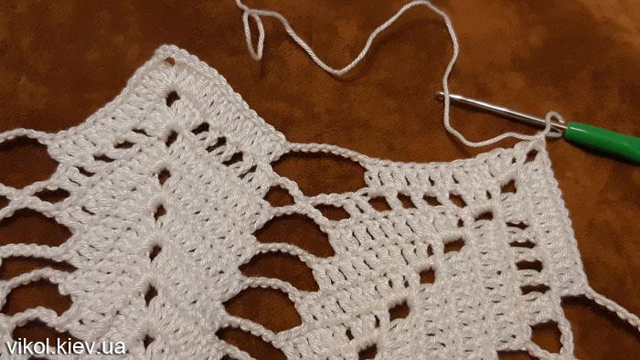 Вязание своими руками красивых салфеток по МК Звезда