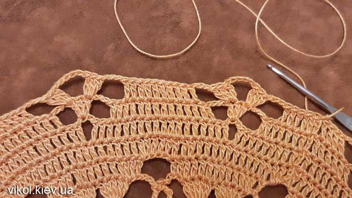 Красивое вязание большой салфетки по схеме своими руками