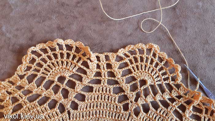 Узор большой салфетки вязания крючком