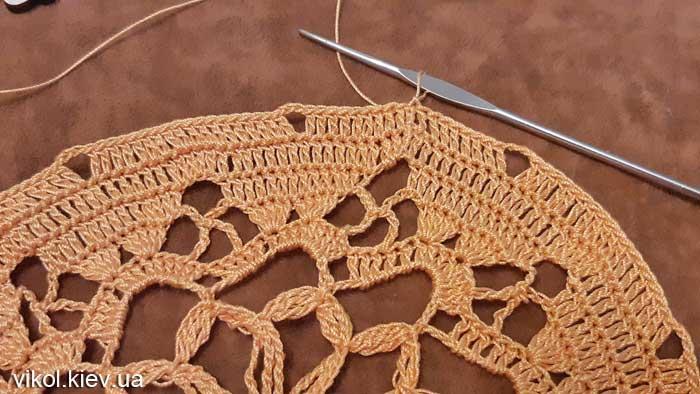 Вязание большой салфетки крючком на заказ мастер класс