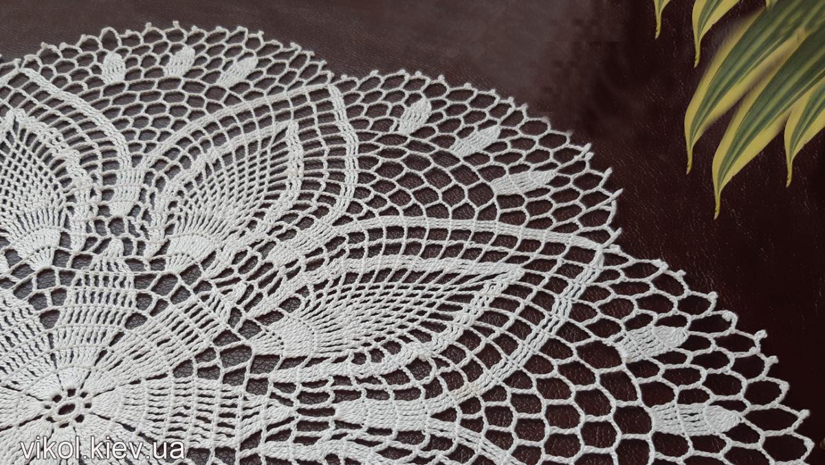 """Вязание тонкой салфетки """"Нежность Хризантемы"""" мастер класс для начинающих, купить салфетку"""