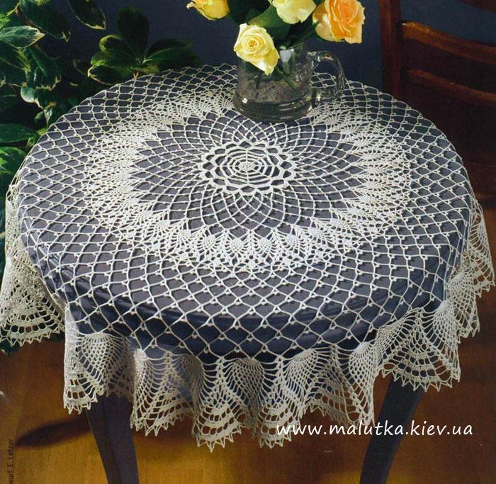 скатертькрючком круглая вязание на заказ
